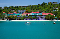 Wharfside Village shopping complex<br /> Cruz Bay, St. John<br /> U.S. Virgin Islands
