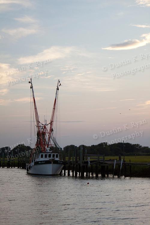 Shem Creek Mount Pleasant South Carolina Shrimp Boat Sunset