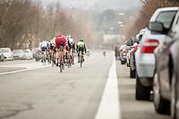 peloton descending<br /> <br /> 69th Kuurne-Brussel-Kuurne 2017 (1.HC)