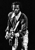 """Chuck Berry - Charles Edward Anderson """"Chuck"""" Berry (October 18, 1926 – March 18, 2017)- performing live in London - 1974. Photo credit: Ian Dickson / IconicPix"""