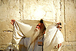 Israel: Old Jerusalem, Western Wall, or Wailing Wall, Jewish prayers. photo: israel105 .Photo copyright Lee Foster, www.fostertravel.com, 510/549-2202, lee@fostertravel.com