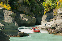 Jetboating on Shotover River, Queenstown, Central Otago, New Zealand, NZ
