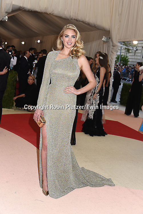 Kate Upton attends the Metropolitan Museum of Art Costume Institute Benefit Gala on May 2, 2016 in New York, New York, USA. The show is Manus x Machina: Fashion in an Age of Technology. <br /> <br /> photo by Robin Platzer/Twin Images<br />  <br /> phone number 212-935-0770