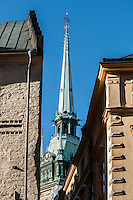 Tower of Tyska kyrkan - German Church, Gamla Stan, Stockholm, Sweden
