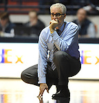 SMU coach Matt Doherty watches the action against Mississippi at the C.M. &quot;Tad&quot; Smith Coliseum in Oxford, Miss. on Tuesday, January 3, 2012. Mississippi won 50-48. (AP Photo/Oxford Eagle, Bruce Newman)