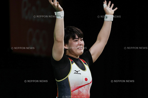Namika Matsumoto (JPN),<br /> AUGUST 9, 2016 - Weightlifting : <br /> Women's 63kg <br /> at Riocentro - Pavilion 2 <br /> during the Rio 2016 Olympic Games in Rio de Janeiro, Brazil. <br /> (Photo by Koji Aoki/AFLO SPORT)