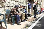 Old men wait patiently for the Giro to pass through Ala dei Sardi during Stage 2 of the 100th edition of the Giro d'Italia 2017, running 221km from Olbia to Tortoli, Sardinia, Italy. 6th May 2017.<br /> Picture: Eoin Clarke | Cyclefile<br /> <br /> <br /> All photos usage must carry mandatory copyright credit (&copy; Cyclefile | Eoin Clarke)