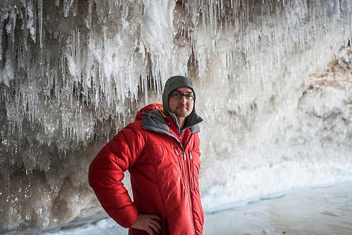 Aaron Peterson, Lake Superior ice cave, Munising, Michigan