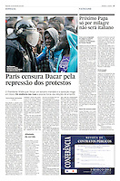 Tearsheet of &quot;Senegal: pre-election violence&quot; published in Expresso