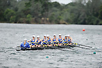 28 MAY 2011: Wellesley College rows down course during the Grande Eights Final during the 2011 NCAA Division III Women's Rowing Championship hosted by Washington State University held at the Sacramento State Aquatic Center in Gold River, CA. Wellesley I placed 3rd in the race. Brett Wilhelm/NCAA Photos