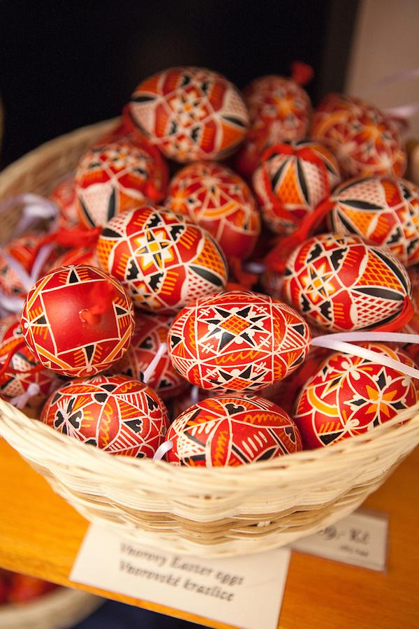 Handpainted Czech Easter Eggs, (Czech: Kraslice), a holiday tradition in Prague, Czech Republic, Europe