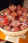 Handpainted Czech Easter Eggs, (Czech: Kraslice), a holiday tradition in Prague, Czech Republic, Europe
