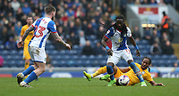 Blackburn Rovers' Marvin Emnes and Preston North End's Daniel Johnson<br /> <br /> Photographer Stephen White/CameraSport<br /> <br /> The EFL Sky Bet Championship - Blackburn Rovers v Preston North End - Saturday 18th March 2017 - Ewood Park - Blackburn<br /> <br /> World Copyright &copy; 2017 CameraSport. All rights reserved. 43 Linden Ave. Countesthorpe. Leicester. England. LE8 5PG - Tel: +44 (0) 116 277 4147 - admin@camerasport.com - www.camerasport.com