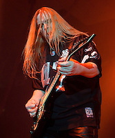 Jeff Hanneman of Slayer performing at Festival Hall, Melbourne, 9 October 2009