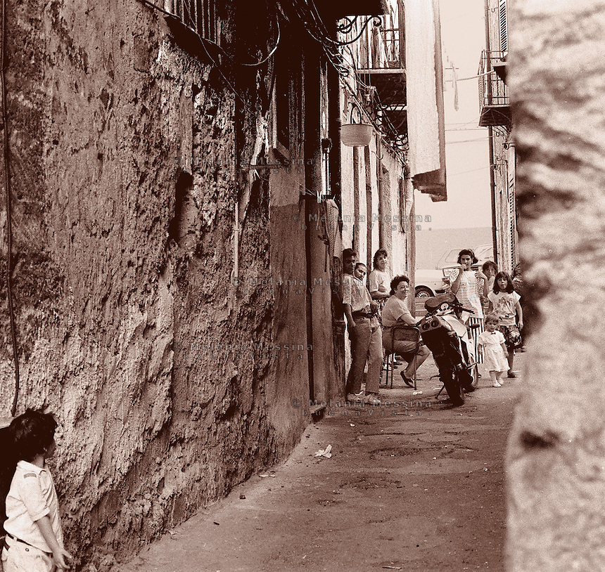 Alleys in the historic city center of Palermo.<br /> Vicoli nel centro storico di Palermo.