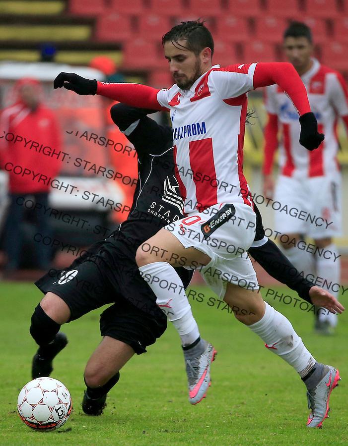 Fudbal Jelen Super League season 2015-2016<br /> Crvena Zvezda v Vozdovac<br /> Hugo Oliveira Vieira (R)<br /> Beograd, 28.11.2015.<br /> foto: Srdjan Stevanovic/Starsportphoto&copy;