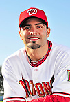 28 February 2010: Washington Nationals catcher Wil Nieves poses for his Spring Training photo at Space Coast Stadium in Viera, Florida. Mandatory Credit: Ed Wolfstein Photo