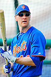 10 March 2012: New York Mets outfielder Jason Bay awaits his turn in the batting cage prior to a Spring Training game against the Washington Nationals at Space Coast Stadium in Viera, Florida. The Nationals defeated the Mets 8-2 in Grapefruit League play. Mandatory Credit: Ed Wolfstein Photo