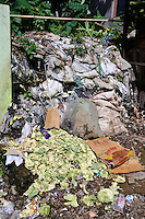 Rubbish and waste dumped outside a market, Malino, Sulawesi, Indonesia.