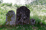 Europe, Ireland, Glendalough. Three graves.