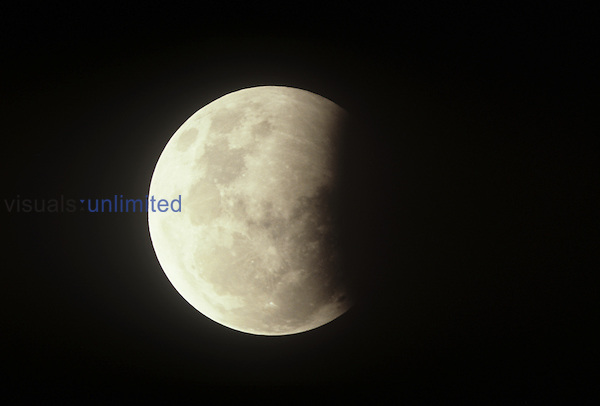 Partial lunar eclipse ,July 16, 1981,.