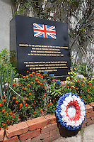 &quot;Dedicated to the lasting memory of the 641 british servicemen who died in terrible circumstances in the Sandakan prisoner of war camp, on the death marches and at Ranau 1943-1945&quot;.The Kundasang War Memorial is located near the renowned vegetable market in Kundasang Village. It was established as a tribute to World War II prisoners of war who died during the Sandakan Death Marches in 1945.The Kundasang War Memorial is located near the renowned vegetable market in Kundasang Village. It was established as a tribute to World War II prisoners of war who died during the Sandakan Death Marches in 1945. The fort-like Memorial was designed by J.C. Robinson, a local architect. It has four interlocking but separate gardens to represent the homelands of those who died: an Australian Garden, a formal English Garden of roses, a Borneo Garden with wild flowers of Kinabalu and at the top level is the 'Contemplation Garden' with a reflection pool and pergola.