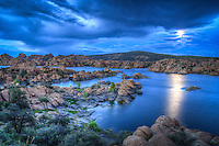 Blue Moon Rising - Arizona - Watson Lake - Granite Dells - Prescott. Special Full &quot;blue&quot; Moon - August 2012