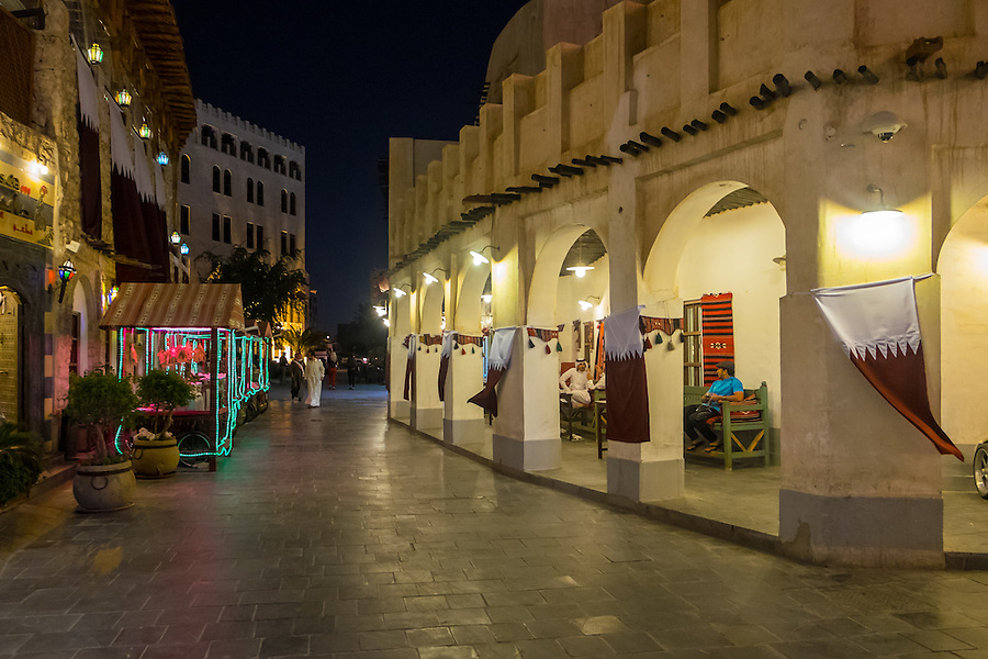 DOHA, QATAR - CIRCA DECEMBER 2013: Souq Waqif market in Doha. This is a popular and traditional market bazaar in Doha.