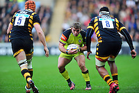 Tom Youngs of Leicester Tigers in possession. Aviva Premiership match, between Wasps and Leicester Tigers on January 8, 2017 at the Ricoh Arena in Coventry, England. Photo by: Patrick Khachfe / JMP