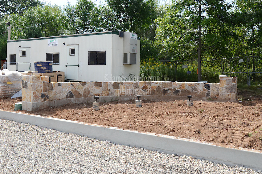 ACMAT Corporation Administrative Headquarters Building. Construction Progress View.Architect: Quisenberry Arcari Architects, LLC  Contractor: Enfield Builders, Inc.  EBI Project #11-013.James R Anderson Photography   New Haven CT   photog.com.Date of Photograph: 24 August 2012  Image No. .Camera View:
