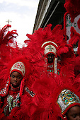 New Orleans, Louisiana.February 28, 2006..The Indians take to the streets of New Orleans for Mardi Gras.