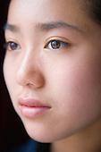 Portrait of teenage girl, looking thoughtful. MR