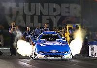Jun 17, 2016; Bristol, TN, USA; NHRA funny car driver John Force during qualifying for the Thunder Valley Nationals at Bristol Dragway. Mandatory Credit: Mark J. Rebilas-USA TODAY Sports