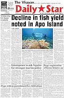 Newspaper article for Greenpeace Oceans Campaign.