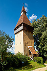 Defensive tower of the  fortified Saxon churchof Biertan , the see of the Lutheran Evangelical Bishop in Transylvania between 1572 and 1867. Unesco World Heritage Site