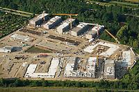 Gleisdreieck Asylanten Wohnungsbau  : EUROPA, DEUTSCHLAND, HAMBURG 17.08.2016: im Bau befindliches Wohngebiet Gleisdreieck Mittlerer Landweg