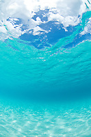 Crystal clear ocean water.Trunk Bay.Virgin Islands National Park