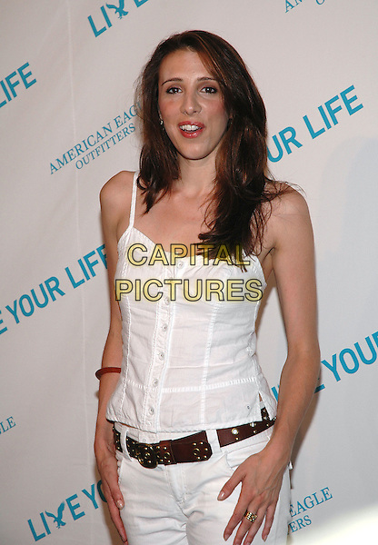 """ALEXANDRA KERRY.American Eagle Outfitters' """"Live Your Life Contest"""" winners at the Union Square flagship store in Manhattan, New York, New York..July 27th, 2005  .Photo Credit: Patti Ouderkirk/AdMedia.half length white tank top brown belt.www.capitalpictures.com.sales@capitalpictures.com.© Capital Pictures."""