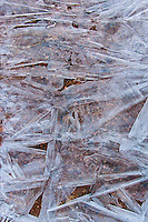 Abstract ice formations, arranged in bizarre and chaotic patterns. Amazingly shaped and formed in an ever occurring and reoccurring natural process.