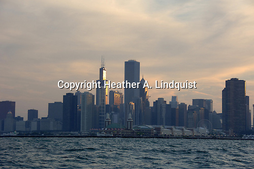 View Chicago from Lake Michigan on Sam's Sailboat