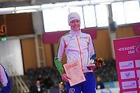 SCHAATSEN: BERLIJN: Sportforum, 07-12-2013, Essent ISU World Cup, podium 1500m Ladies Division B, baanrecord Jorien ter Mors (NED), ©foto Martin de Jong