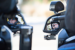 Members of the Los Altos police department's motorcycle team watch for traffic offenders during a Safe Passage to School patrol.