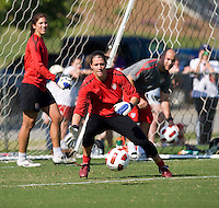 Nicole Barnhart. The USWNT practice at WakeMed Soccer Park in preparation for their game with Japan.