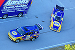 Jan. 20, 2012; Jupiter, FL, USA: Aerial view of the car of NHRA funny car driver Ron Capps being towed to the staging lanes during testing at the PRO Winter Warmup at Palm Beach International Raceway. Mandatory Credit: Mark J. Rebilas-
