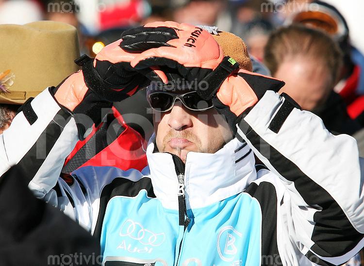 Ski Alpin; Saison 2006/2007  Slalom Herren Alois Vogel (GER) enttaeuscht nach seiner Disqualifikation