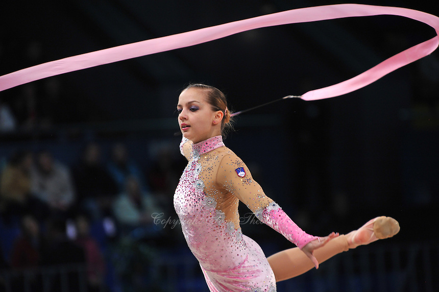 "TJASA SEME of Slovenia performs at 2011 World Cup Kiev, ""Deriugina Cup"" in Kiev, Ukraine on May 7, 2011."