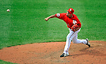 22 June 2008: Washington Nationals' pitcher Luis Ayala on the mound against the Texas Rangers at Nationals Park in Washington, DC. The Rangers defeated the Nationals 5-3 in the final game of their 3-game inter-league series...Mandatory Photo Credit: Ed Wolfstein Photo
