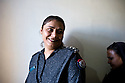 Lady police inspector Anila Unar of the West Karachi Police Station. <br />
