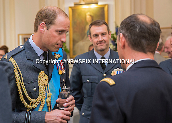10.07.2015: THE QUEEN, PRINCES PHILIP, ANDREW, EDWARD, WILLIAM &amp; SOPHIE<br /> were joined by Prince Michael of Kent, the Duke of Kent, the Duke of Gloucester and Princess Alexandra<br /> to watch the flypast of 4 Spitfires, 2 hurricanes and 4 Typhoons over Buckingham Palace to celebrate the 75th anniversary of the Battle of Britain.<br /> At a reception and lunch held at the RAF Club, following the flypast members of the Royal Family and the Royal Air Force got a chance to meet the surviving six pilots. <br /> Mandatory Credit Photo: &copy;MoD/NEWSPIX INTERNATIONAL<br /> <br /> (Failure to credit will incur a surcharge of 100% of reproduction fees)<br /> IMMEDIATE CONFIRMATION OF USAGE REQUIRED:<br /> Newspix International, 31 Chinnery Hill, Bishop's Stortford, ENGLAND CM23 3PS<br /> Tel:+441279 324672  ; Fax: +441279656877<br /> Mobile:  07775681153<br /> e-mail: info@newspixinternational.co.uk<br /> **ALL FEES PAYABLE TO: &quot;NEWSPIX  INTERNATIONAL&quot;**