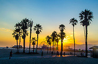 Santa Monica amid the sunset on Monday. July 22. 2013.